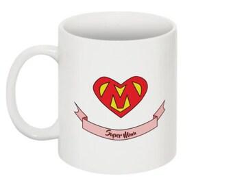 mug celebrates mother - mug supermum - gift mother's day - personalized mug - funny mug