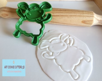 Fondant sheep Timmy or cookie cutter. Sheep Timmy Cookie cutter.