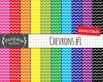 Chevron Digital Paper, Digital Scrapbook Paper, Instant Download, Commercial Use