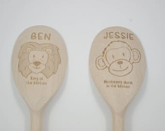Personalised wooden spoons