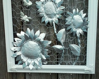 Sunflowers Aluminum Soda Can Wall Art