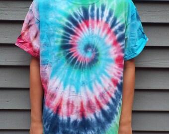Kids Tie Dye Shirt, Custom Tie Dye TShirt, Childrens Tie Dye Swirl, Hippie Kids Tiedye Tshirt, Boho Kids, Kids Hippie Costume, hippie party