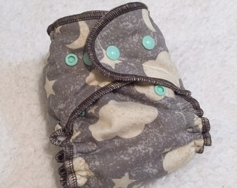 Newborn Hybrid Fitted Cloth Diaper