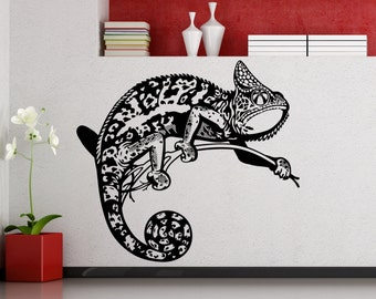 Chameleon Wall Sticker Reptile Lizard Vinyl Decal Home Interior Design Room Art Decoration Waterproof High Quality Mural (467xx)