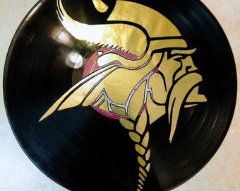Viking vinyl record art