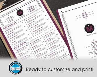 Simple Food Menu - Resto & Lounge template Ready to customize it!