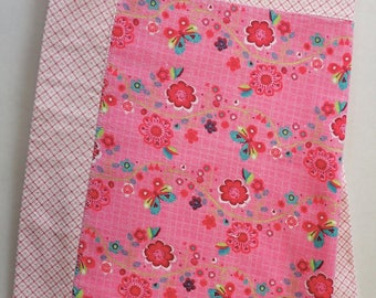 Pink Butterfly Flower 100% Cotton Welcome Baby Blanket