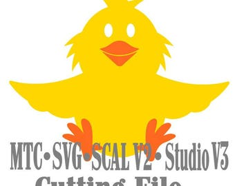SVG Cut File Treat Holder Chick Easter Holiday Birthday Cricut Silhouette Cameo MTC SCAL Cutting File Instant DownloadS