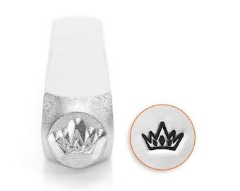 ImpressArt CROWN Metal Stamp, Impress Art 6mm Design Stamp, Prince or Princess Crown, Hand Stamping Tool, Steel Stamp