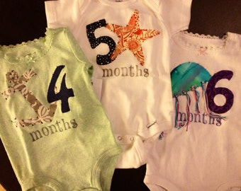 Girls Nautical Month-by-Month Bodysuits (Months 4-6)
