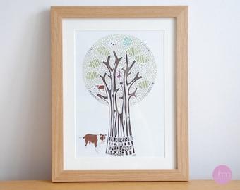 Family tree papercut art – personalised family tree – family tree gift – family tree art – gift for wedding – heirloom gift
