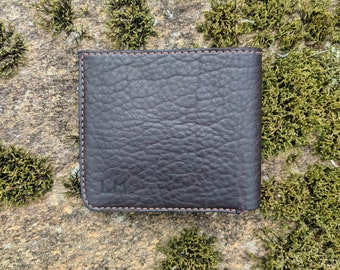 Leather 8 pocket bi-fold wallet