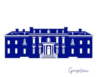 Washington DC Georgetown Dumbarton House Card A2