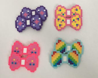 8-bit My Little Pony Theme Party Pack Rainbow Dash, Fluttershy, Pinkie Pie, Twilight Sparkle Headband, Barrette, Pins Character Pixel Art