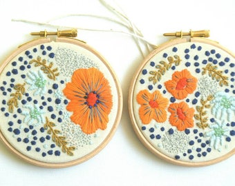 Floral Hoop, Embroidery Art, Hoop Art, Wall Decor, Hand Embroidery, Floating Flowers, Embroidered Flowers