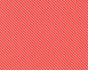Little Ruby Coral on Red Little Sundae Yardage SKU# 55132-23 Little Ruby By Bonnie & Camille for Moda Fabrics
