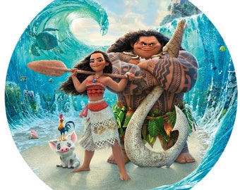 Moana Round Edible Cake Image Topper Frosting Icing Sheet