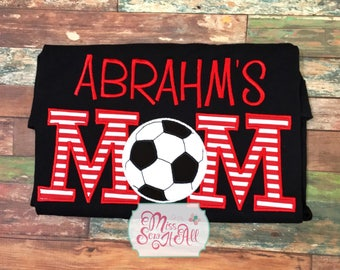 Soccer Mom Shirt, Custom Soccer Mom Shirt, Soccer Mom Tee, Soccer Shirt, Custom Soccer Shirt