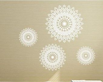 Mandala vinyl wall art sticker decal transfer mural easy application 03