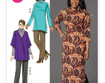 McCall's M7263 Size 8-16 Misses'/Women's Dropped-Shoulder Cardigan, Tunic, Dress and Pants Sewing Pattern / Uncut/FF
