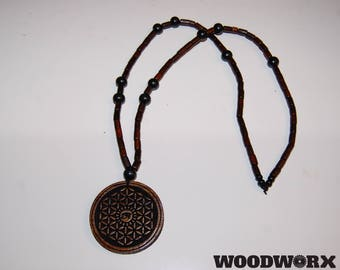 Flower of Life/Eye of Horus custom medallion.