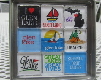 Up North Michigan Magnets Set, Northwest Michigan Souvenir or Gift