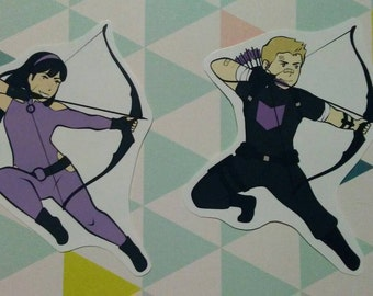 Hawkeye - Kate Bishop and Clint Barton - Stickers