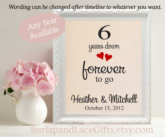 Six Year Wedding Anniversary Gift Ideas: 6th Wedding Anniversary Gift For Wife Gift For Husband 6 Years
