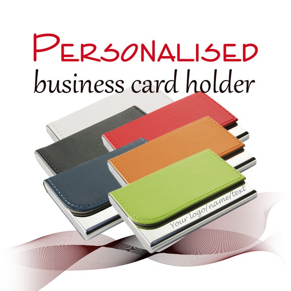 Personalised business card holder laser engraved with like this item reheart Images