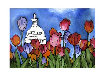 Bloomin DC - 11x14 matted print by Joel Traylor