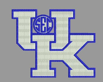 University of Kentucky football machine embroidery 2 designs