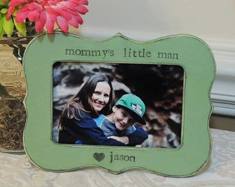 Mommys little man picture frame gift mothers day gift mom mama mommy dad Personalized photo picture frame daughter mother bride wedding gift