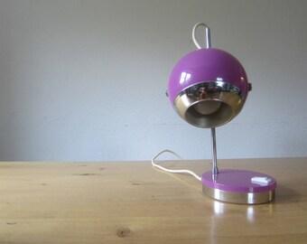 Vintage 70 s pop modern art style table lamp ball design