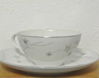 Vintage Teacup and Saucer, Star Dust