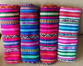 Ethnic fabric peruvian fabric aguayo fabric tribal fabric
