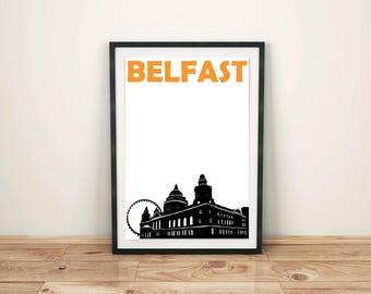 Belfast Print // Northern Ireland Print // City Print // Belfast Poster // Belfast Art // Northern Ireland Poster // Northern Ireland Art