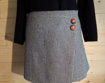 Houndstooth patterned a-line wrap skirt / by classy *.