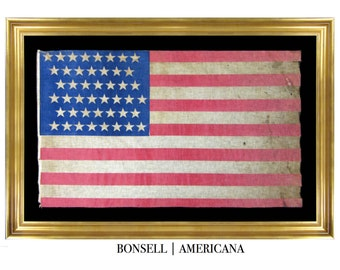 45 Star Flag with 8-7-7-8-7-8 Star Pattern Staggered in Different Directions   Circa 1896-1907