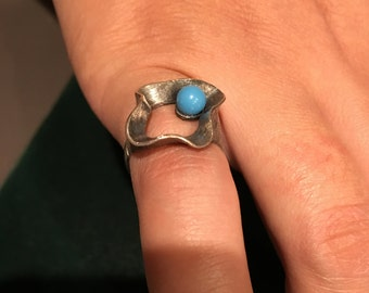 Sterling silver 925 tourquise ring