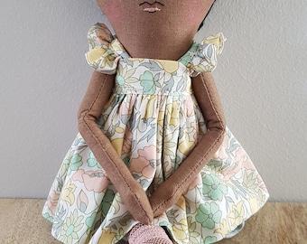 Handmade Ooak 12 Inch Doll / Art Doll / Rag Doll / Fabric Doll / Cloth Doll / Heirloom Doll