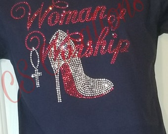 Woman of Worship Rhinestone Tee