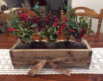 Reclaimed Wood Indoor Seasonal Planter
