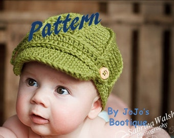 Newsboy Hat PATTERN with LARGER Sizes - Baby Newsboy Hat Pattern - Newborn to 5 Toddler Sizes -Crochet Newsboy Hat - by JoJosBootique