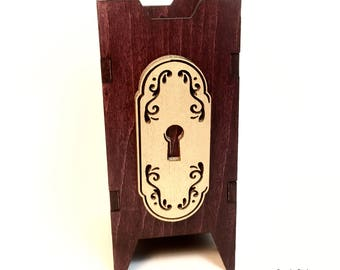 Mysterious Door Dice Tower, Dice Tower, Wood Dice Tower, Wood Dice Chute, Door Dice Tower