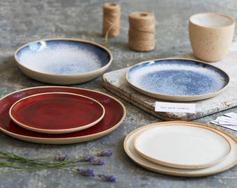 Staffordshire clay ceramic plates