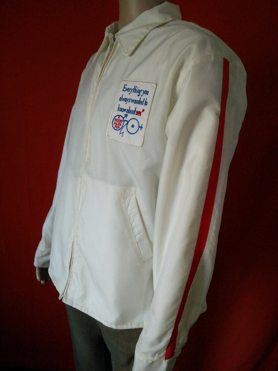 Vintage windbreaker jacket Woody Allen film crew Everything you always wanted to know about sex, white color size large