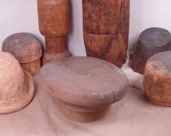 Vintage 1940s Era Millinery Wooden Asymmetrical Tam / Oversized Beret Hat Makers Block Form - 537 23