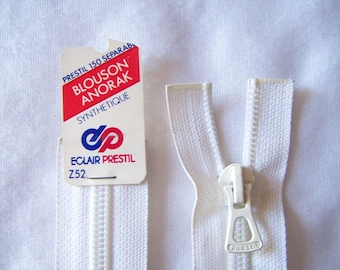 White nylon zipper (Z52/58-400)