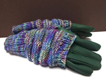 Texting Gloves, Fingerless Mittens, Gauntlets,  Phone Mittens,Teenager Gift,Texting Mittens,Hand Knit Sleeves,Arm Warmers,Driving Gloves,