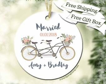 Wedding Gift Couple   Custom Name Gift   Personalized Wedding Gift   Gift for Engagement   Wedding Bridal Shower   Customized Ornament  WE13